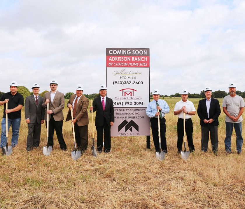 Groundbreaking for Adkisson Ranch in Shady Shores, TX