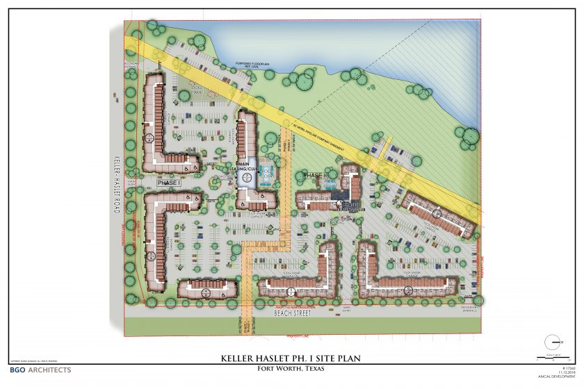 Lane Kommer, Dan Spika Represent Buyer of 35.33 Acres in Fort Worth: Apartment Complex with 520 Units in 2 Phases Planned