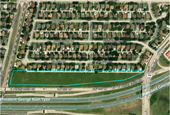 Lane Kommer Represents Seller of 8.5 Acres in Carrollton, TX:  Preliminary Plans Include Townhomes